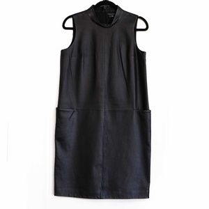 NWOT Theory leather dress with pockets. Size 6
